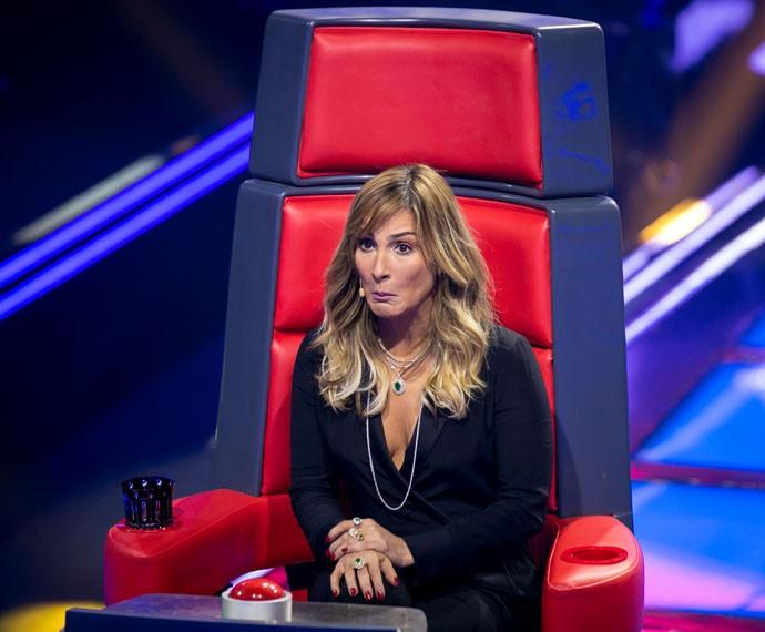 Claudia Leitte fica chocada com a voz de um candidato  (Foto: Isabella Pinheiro / Gshow)