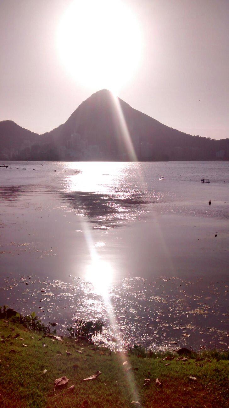 Vista da Lagoa Rodrigo de Freitas no Rio de Janeiro (Foto: TV Tribuna / Inderson de Oliveira)