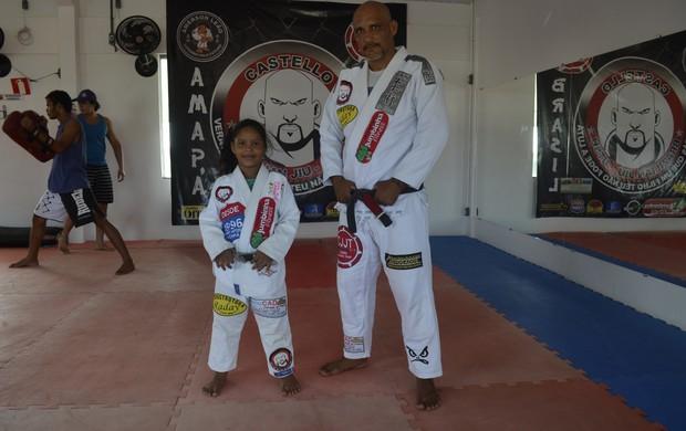 Pai e filha amapaenses se preparam para competição nacional de Jiu Jitsu (Foto: Jonhwene Silva - GE/AP)