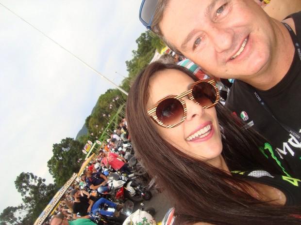 Maristela julgou a edição de 2015 a melhor do evento de motociclismo (Foto: Maristela Stringhini/Arquivo pessoal)