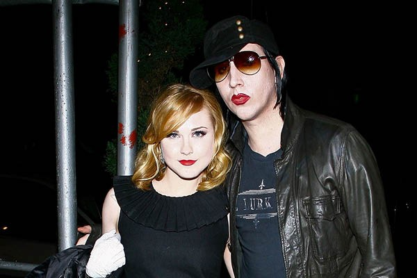 Marilyn Manson e Evan Rachel Wood (Foto: Getty Images)