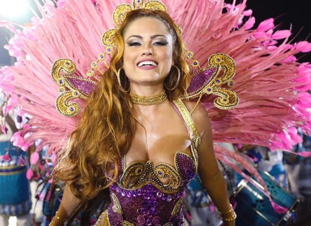 Ellen Rocche, rainha de bateria da Rosas de Ouro (Foto: Eduardo Saraiva/Ed. Globo)