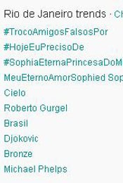 Trending Topics no Rio &#224;s 17h06 (Foto: Reprodu&#231;&#227;o)