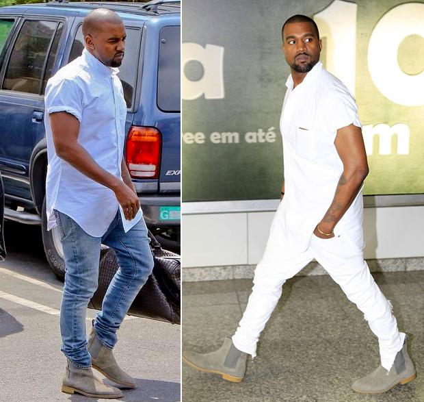 Kanye West com suas botas chelsea (Foto: Divulgação)