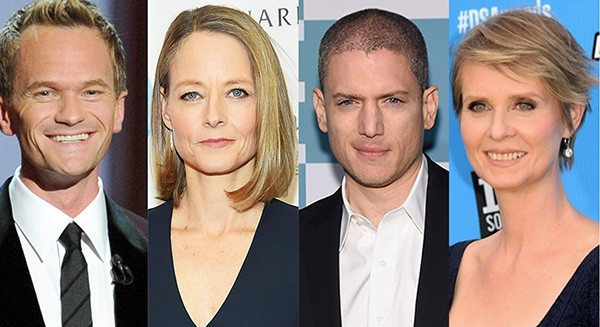 Neil Patrick Harris, Jodie Foster, Wentworth Miller, Cynthia Nixon (Foto: Getty Images)