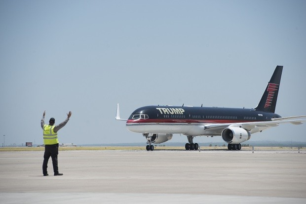 Boeing 757 de Donald Trump (Foto: Matthew Busch/ Getty Images)