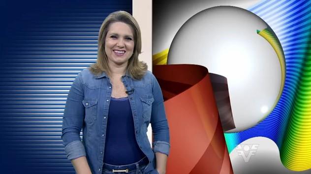 Vanessa Faro no Tribuna Esporte (Foto: Reprodução/TV Tribuna)