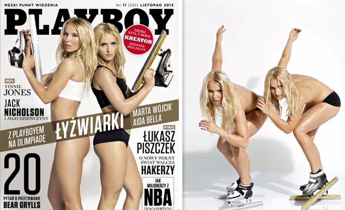 playboy Marta Wójcik e Aida Bella (Foto: Reprodução / Playboy)