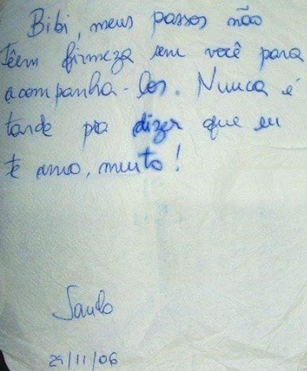 Fabiana Escobar mostra bilhete recebido de companheiro  (Foto: Reprodução/Instagram)