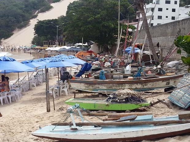 Com o enrocamento pescadores não teriam onde deixar os barcos (Foto: Assessoria/Ministério Público)