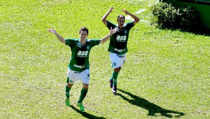 Fumagalli gol Guarani contra Duque de Caxias (Foto: Divulgação / Site Oficial do Guarani)