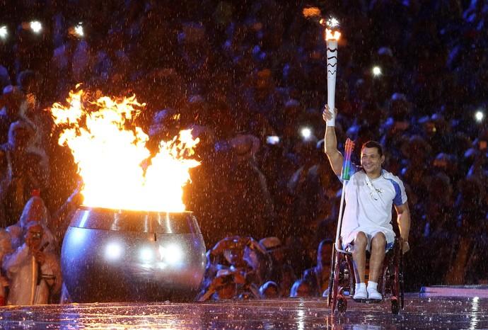 Clodoaldo Silva pira paralímpica Rio 2016 (Foto: Fernando Maia/MPIX/CPB)