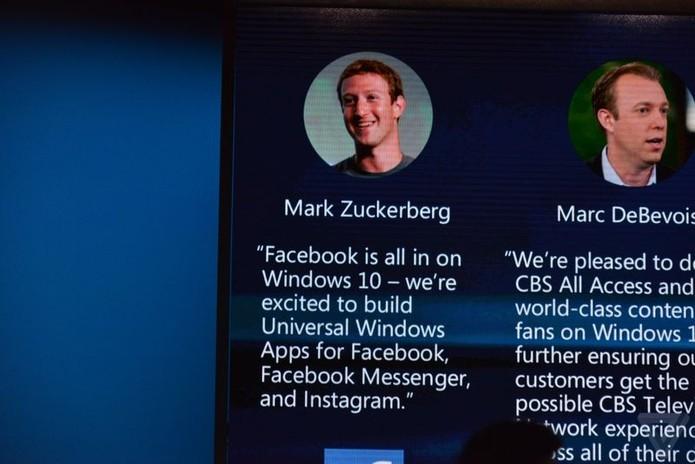 Microsoft anuncia chegada de aplicativos do Facebook ao Windows 10 (Foto: Reprodução/The Verge)