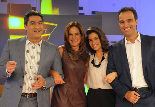 Zeca Camargo, Renata Ceribelli, Renata Vasconcellos e Tadeu Schmidt (Foto: TV Globo)