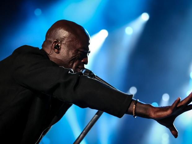 Seal se apresenta no Palco Mundo, no terceiro dia do Rock in Rio 2015 (Foto: Fabio Tito/G1)