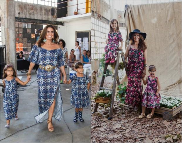Giovanna Antonelli com as filhas gêmeas, Sofia e Antônia, de 4 anos  (Foto: Divulgação)
