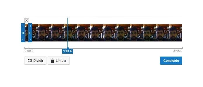 Mova as barras para mudar o tamanho do vídeo (Foto: Reprodução/Paulo Alves)