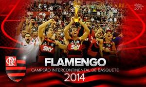 wallpaper flamengo basquete 2014 - 2 (Foto: arte esporte)
