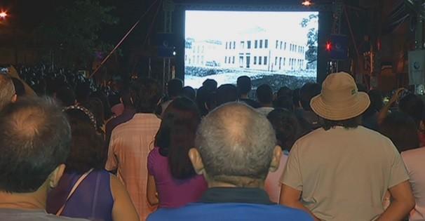 Lançamento do documentário 'Cinema do Seu Duca'  (Foto: Reprodução/ TV liberal)