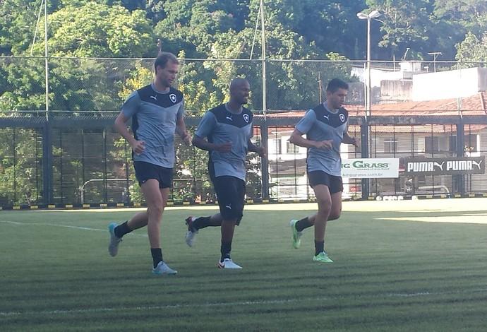 Airton, Gervasio Yaca e Carli, Botafogo (Foto: Thiago Lima)