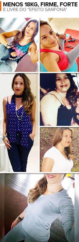 EuAtleta minha historia Juliana Almeida Favero Mosaico (Foto: Eu Atleta | Arte | fotos: arquivo pessoal)
