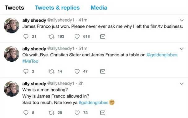 Ally Sheedy no Twitter (Foto: Reprodução/Twitter)