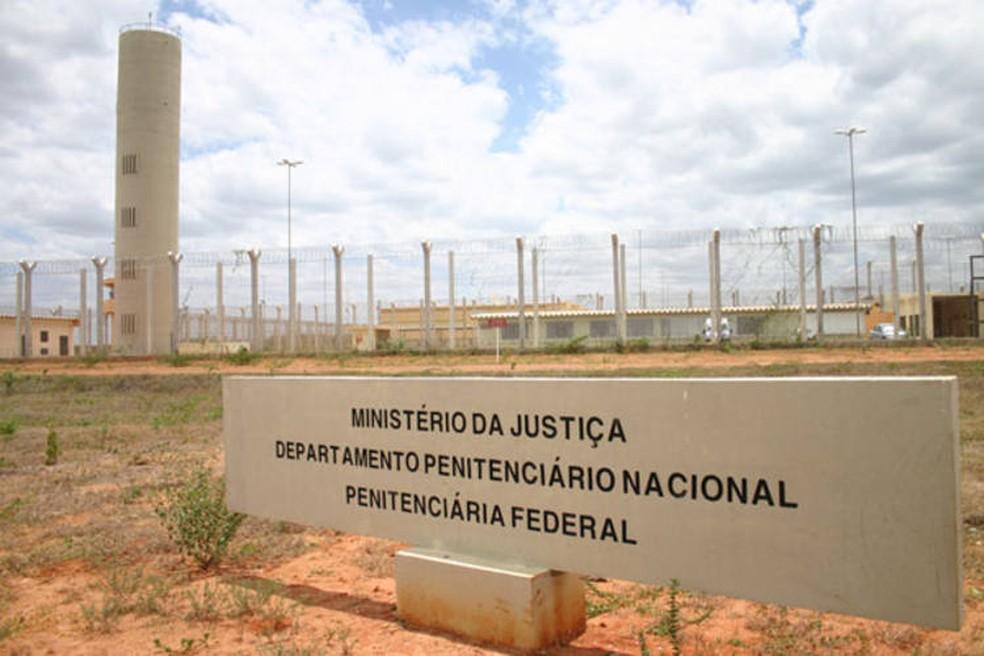 Penitenciária Federal de Mossoró, no Oeste potiguar (Foto: Fred Carvalho/G1)