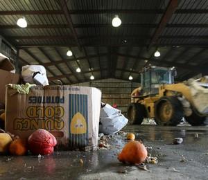 Desperdício de alimentos (Foto: Justin Sullivan/Getty Images)