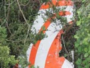 destroços do avião da gol (Foto: Reprodução/TV Globo)