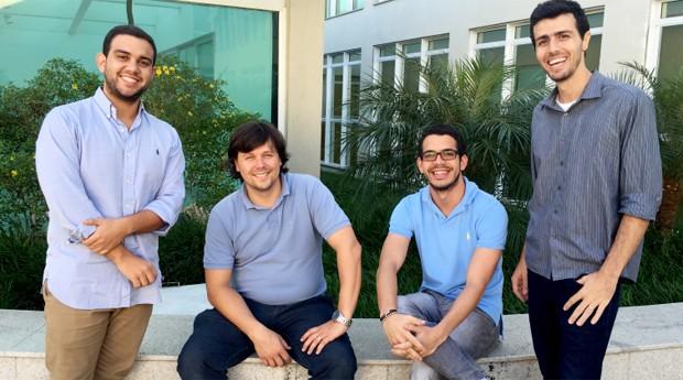 O time da We Do Logos e Logovia: Carmelo Queiroz, Gustavo Zimmermann, Pedro Assis e Gustavo Mota (Foto: Divulgação)
