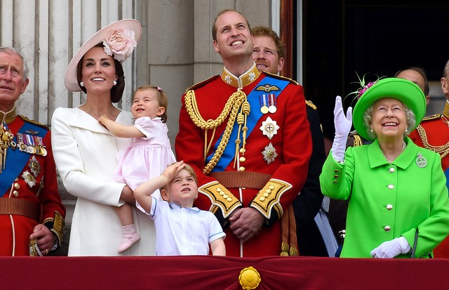 Família real durante o Trooping the Colour, em 2016 (Foto: Getty Images)