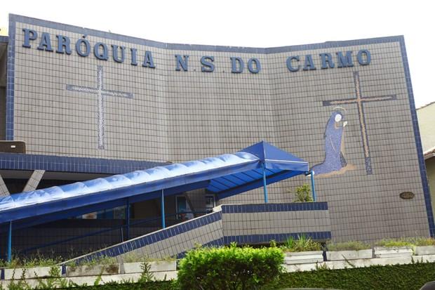 Igreja onde será realizada a missa de Chorão (Foto: Iwi Onodera / EGO)