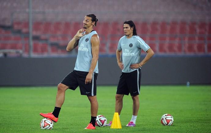 Ibrahimovic treino PSG (Foto: AFP)