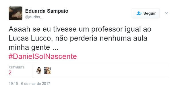 Lucas Lucco entra em Sol Nascente e faz sucesso no Twitter (Foto: Reprodução/Twitter)