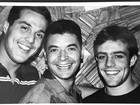 David Brazil mostra foto antiga ao lado de Júlio Cesar e Roger