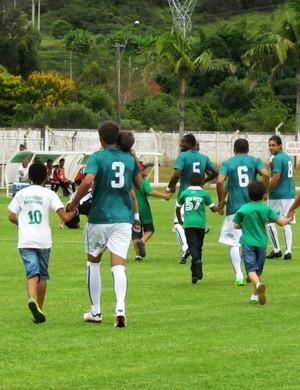 Caldense deverá ter força total para enfrentar o Atlético-MG no Ronaldão (Foto: Assessoria Imprensa Caldense)