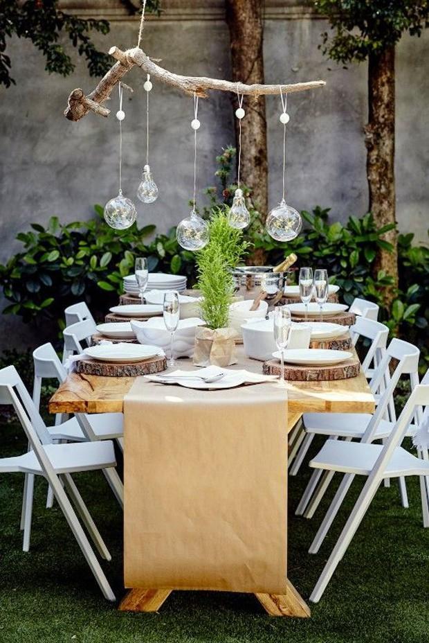 Decoraç u00e3o de Natal 9 ideias do Pinterest para o seu jardim Casa e Jardim Decoraç u00e3o # Decoração De Jardim Com Material Reciclavel