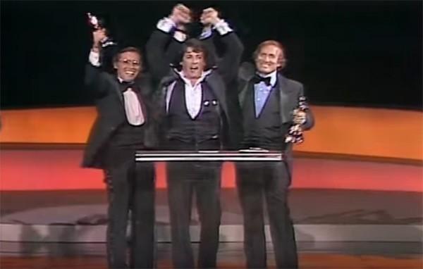 Sylvester Stallone na cerimônia do Oscar em 1977 (Foto: Reprodução / YouTube)