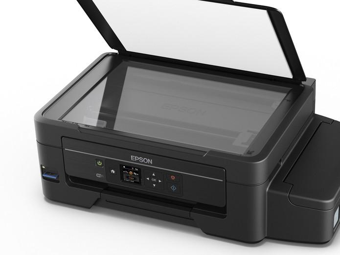 Multifuncional EcoTank L475 da Epson funciona com sistema de tanque de tinta (Foto: Divulgação/Epson)