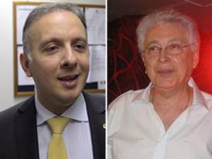 O ministro das Cidades, Aguinaldo Ribeiro (à esq.), e o autor Aguinaldo Silva (Foto: André Dusek/Agência Estado e Carla Meneghini/G1)