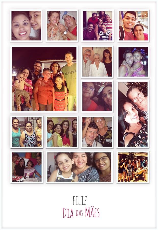 Filhos homenageiam as mães enviando fotos para o Bom Dia Ceará (Foto: Reprodução/TV Verdes Mares)