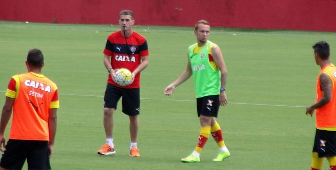 Vitória; treino; Barradão; Toca do Leão; Vagner Mancini; Zé Love (Foto: GloboEsporte.com)
