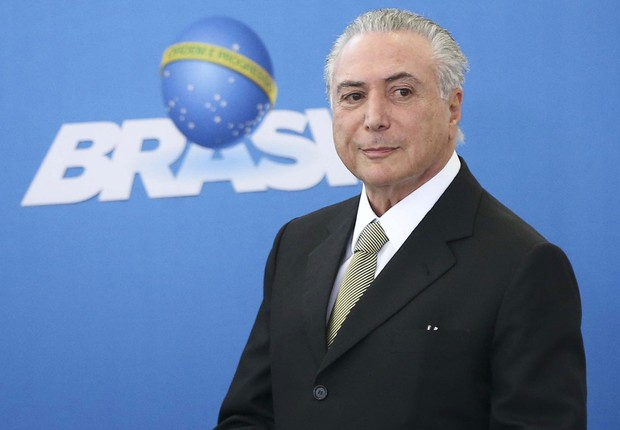 O presidente interino Michel Temer participa de cerimônia de posse em Brasília (Foto: Marcelo Camargo/Agência Brasil)