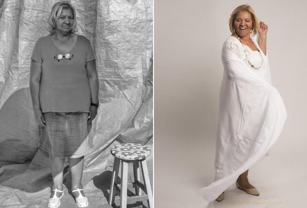 """A revendedora Maria do Carmo: """"Em 2015, nasci de novo. Chorei ao me ver no espelho"""" (Foto: Fernanda Rodrigues e Paola Vianna)"""
