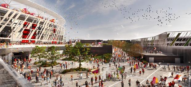 BLOG: Roma apresenta projeto de novo estádio à prefeitura da cidade; veja as imagens