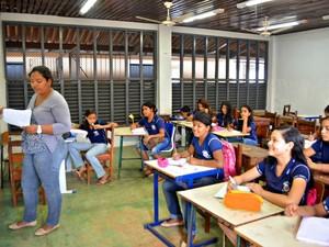 Quadro de professores é preenchido e aulas são retomadas (Foto: Edivaldo Souza/G1)