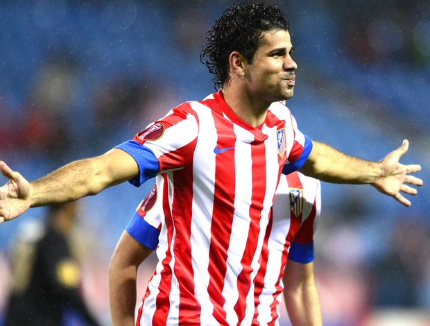 Diego costa, Atl&#233;tico de MAdrid e Academica Coimbra (Foto: Ag&#234;ncia AFP)