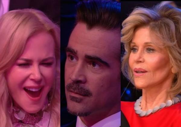 Reação dos famosos no momento da gafe (Foto: Reprodução)