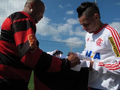 Pará treino Flamengo Florianópolis (Foto: Gustavo Rotstein)