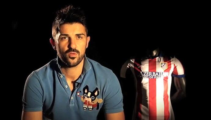 FRAME David Villa se despedindo do Atlético de Madrid (Foto: Reprodução)